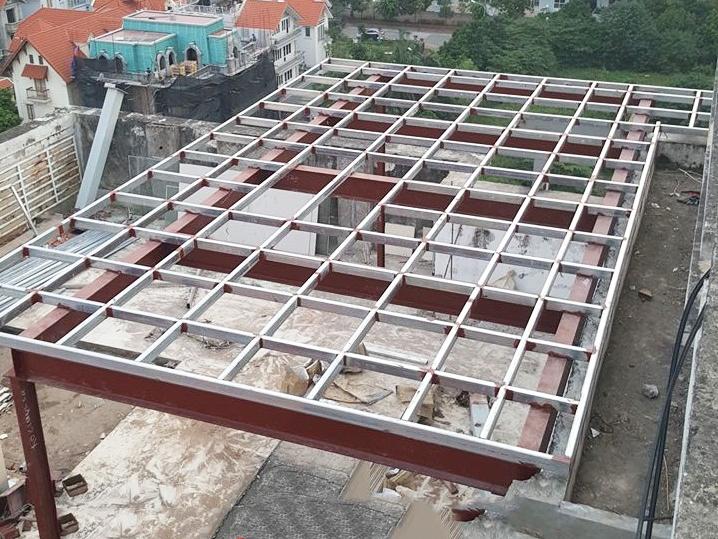 Cải tạo nhà chung cư khung thép sàn nhẹ